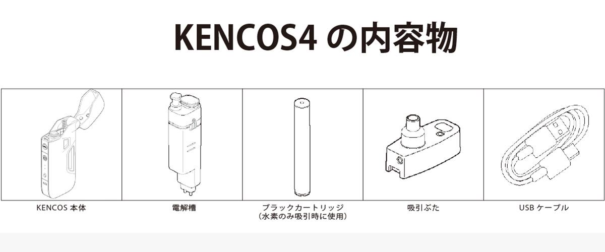 ポータブル水素ガス吸引具KENCOS4の内容物